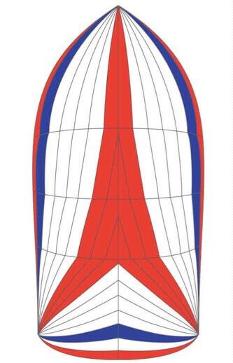 spinnakers symétrique tricolore achat facile