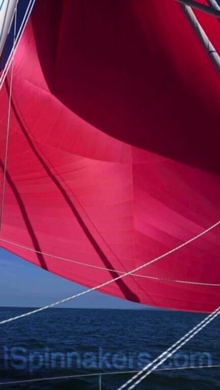 spinnaker asymétrique rouge de 183 m2 taille 14 (2)